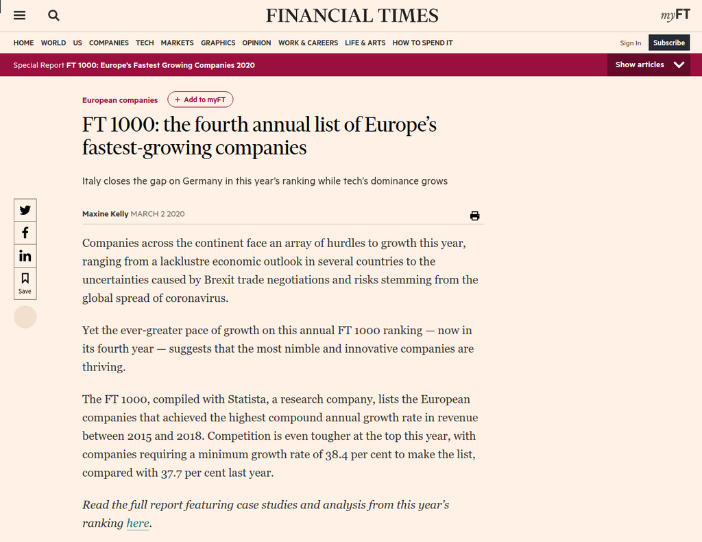 Financial Times nowaled