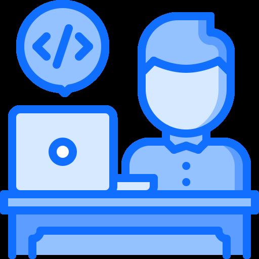 developer logo blue