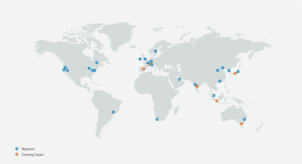 Global AWS infrastructure